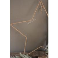Jute ster hanger 58cm