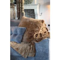 Fleece plaid panter Tobacco brown 200cm