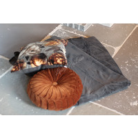 Fleece plaid Charcoal 200cm