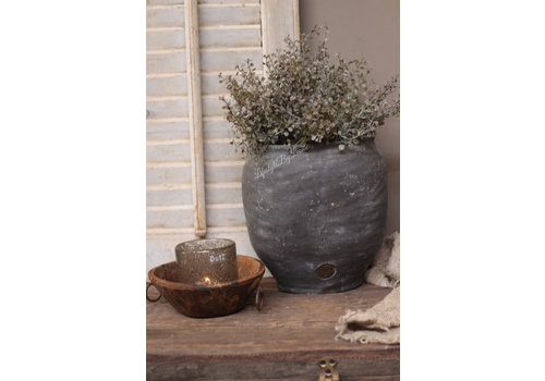 Brynxz Brynxz ovale stenen pot Majestic vintage 27cm