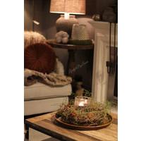 Krans twig met Asparagus en Rozenbottel 35cm