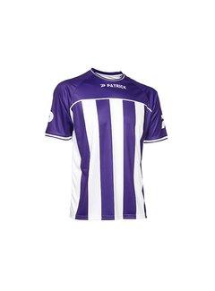 Patrick Coruna shirt paars/wit
