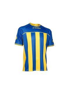 Patrick Coruna shirt blauw/geel