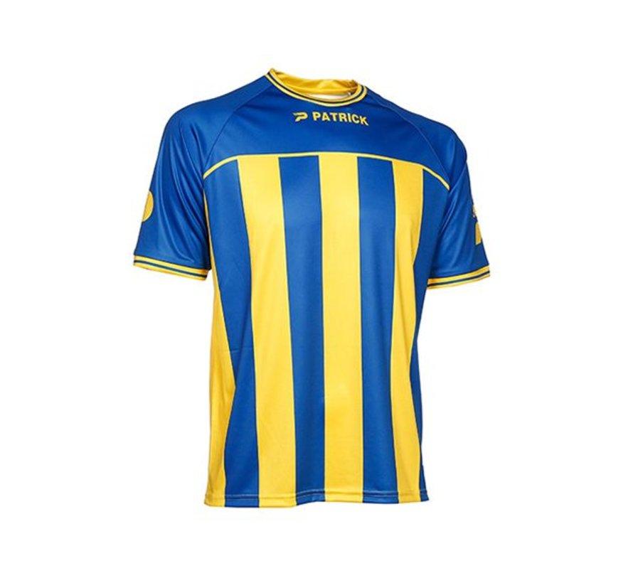 Coruna shirt blauw/geel