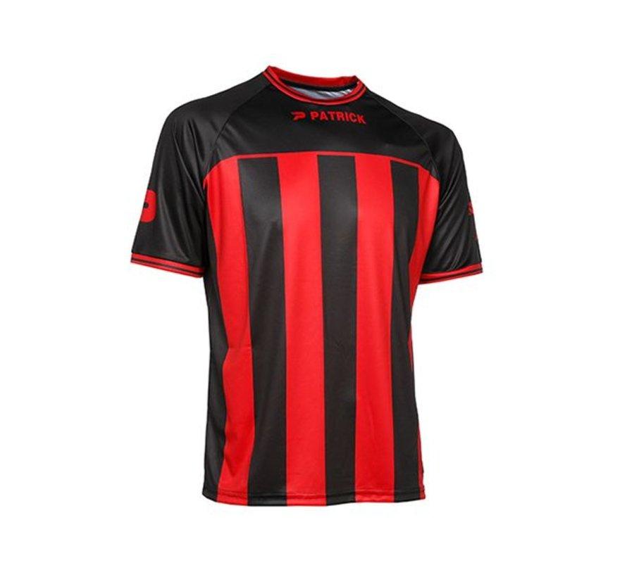 Coruna shirt rood/zwart
