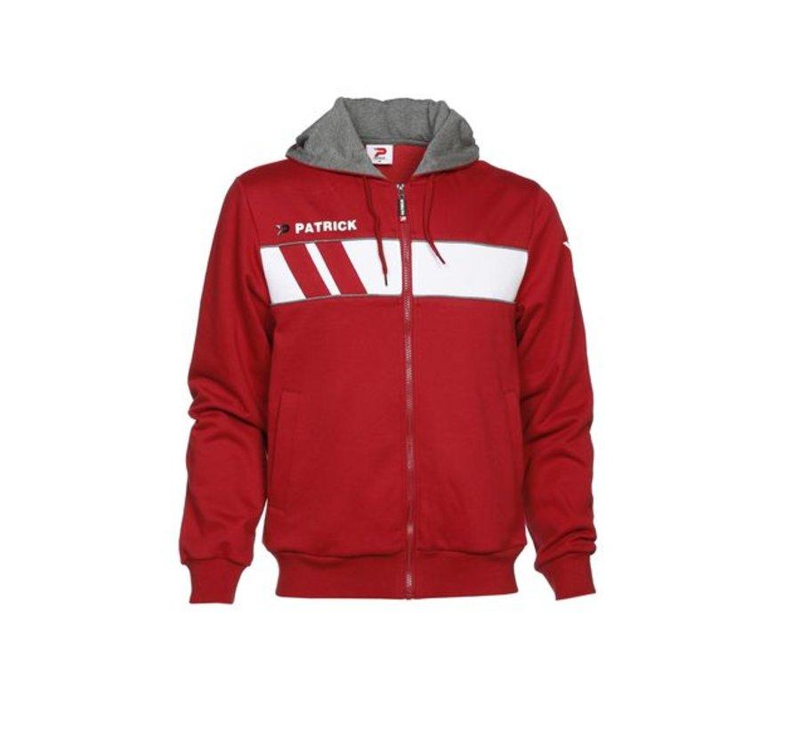 IMPACT210 cotton hoody rood