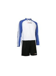 Patrick MADRID305 Voetbaltenue lange mouw Zwart / wit / Royal blue