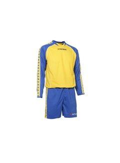 Patrick MADRID305 Voetbaltenue lange mouw Royal blue / geel