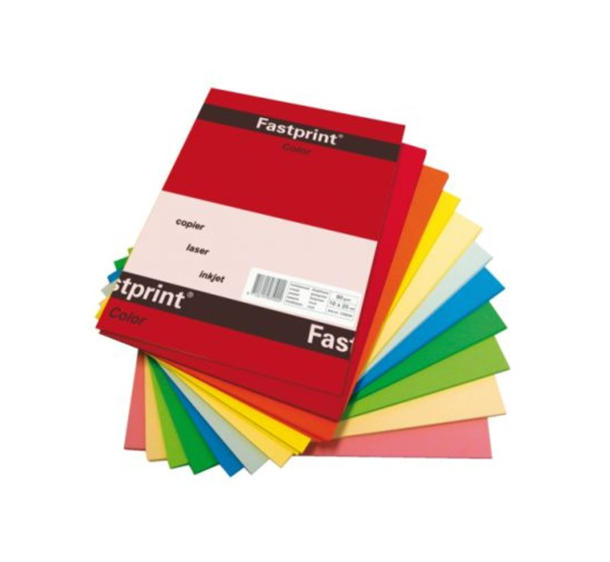 Kopieerpapier Fastprint A3 120gr gekleurd 250vel