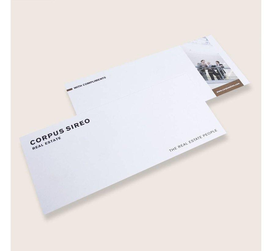 With complimentskaart enkelzijdig fullcolour 99x210mm