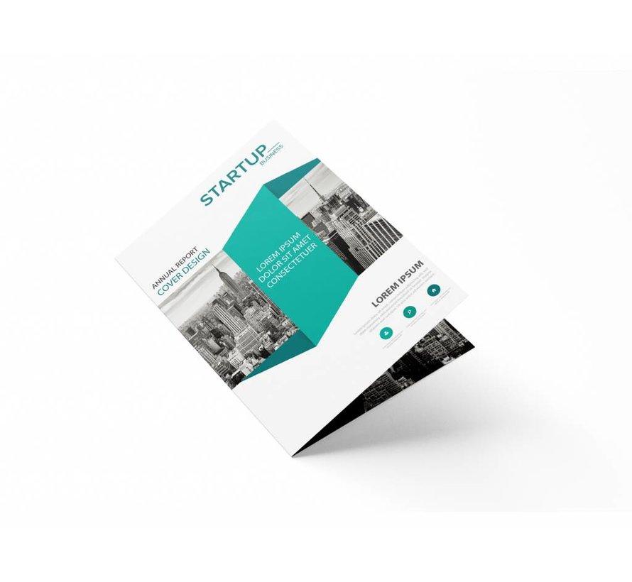 Folders enkelvouw A5 (gesloten eindformaat 148x210mm)