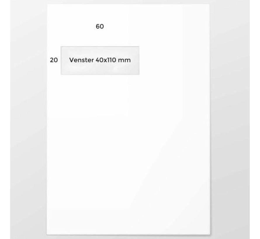 C4 Akte-Enveloppen 2 Pantone kleuren 229 x 324 mm venster links
