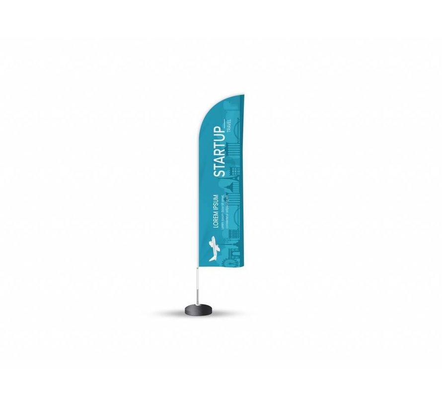 Beachflag Feather outdoor reclame