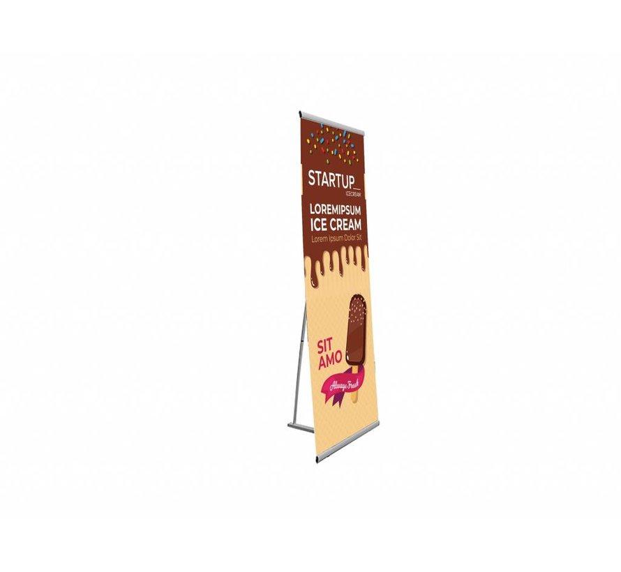 L-banner 100 x 200 cm