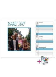 PaperFactory Schoolkalender Claudia