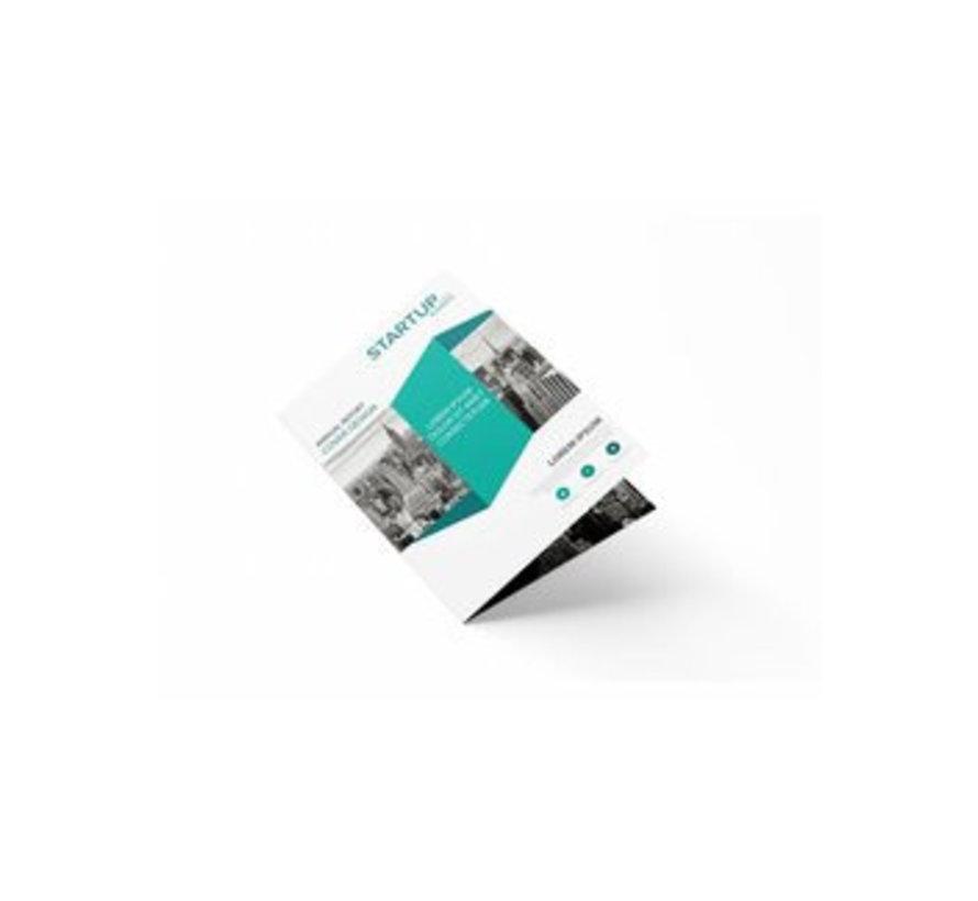 Folders enkelvouw US (gesloten eindformaat 99x210mm)