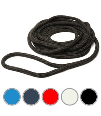 The Rope People Docklines Pre-spliced 12mm Braid on Braid 10m Line with Eye Splice