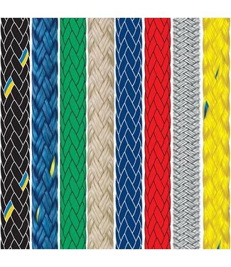 Braid on Braid Polyester Rope Solid Colour (Price Per Metre)