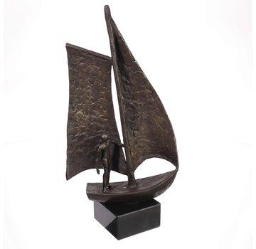Bronzen beeld Sail Zeilboot