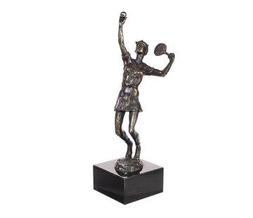 Bronzen beeld Tennister