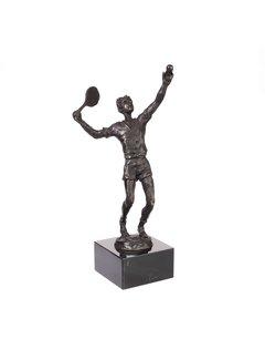 Bronzen beeld Tennisser