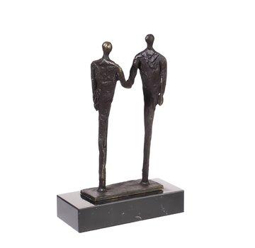 Bronzen beeld De afspraak