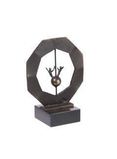 Bronzen beeld Een goed perspectief met elkaar