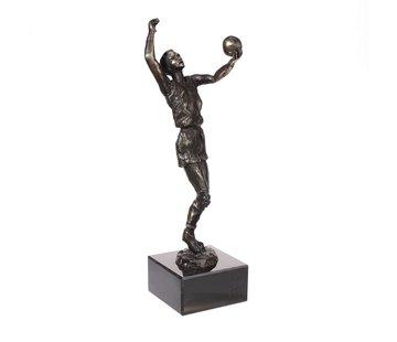 Bronzen beeld Volleyballer