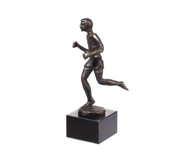 Bronzen beeld Hardloper