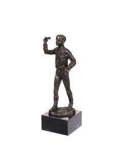 Bronzen beeld Darten