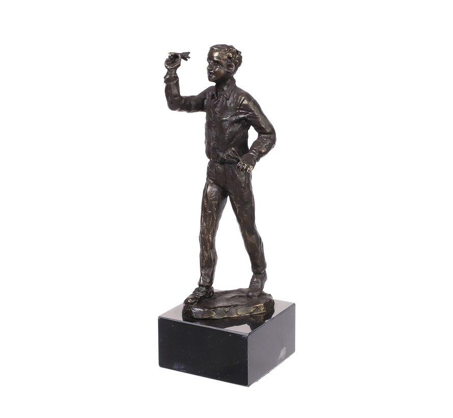Bronzen beeld de Darter