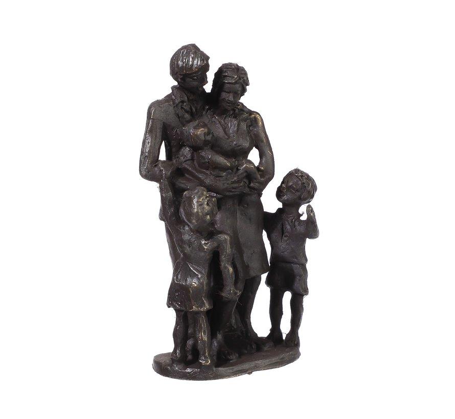 Beeld Gezin met zoon en dochter