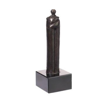 Bronzen beeld de omhelzing