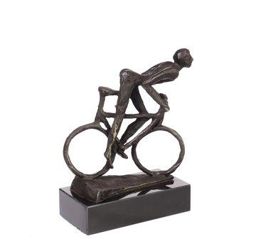 Bronzen beeld Biker