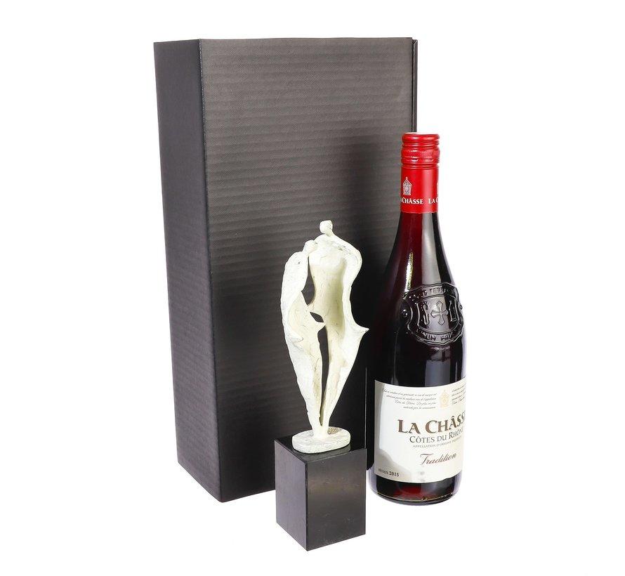 Groeien naar de toekomst wijnpakket met sculptuur.