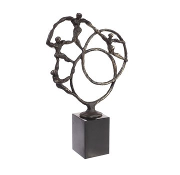 Bronzen beeld In Beweging