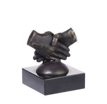 Bronzen beeld Samenwerken