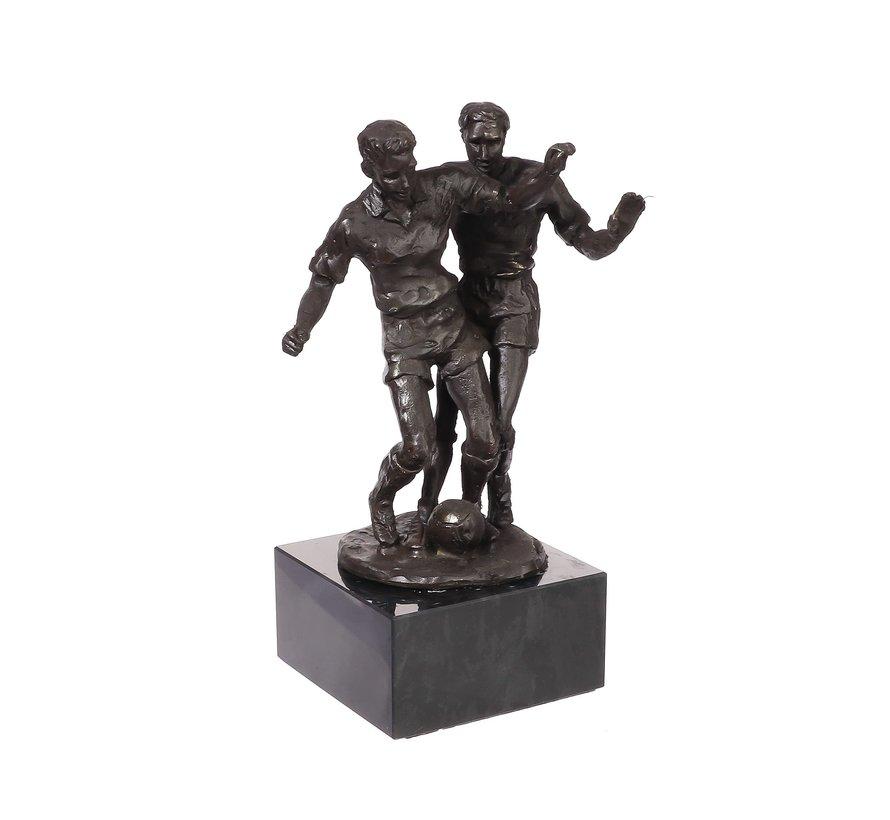 Voetbal duel