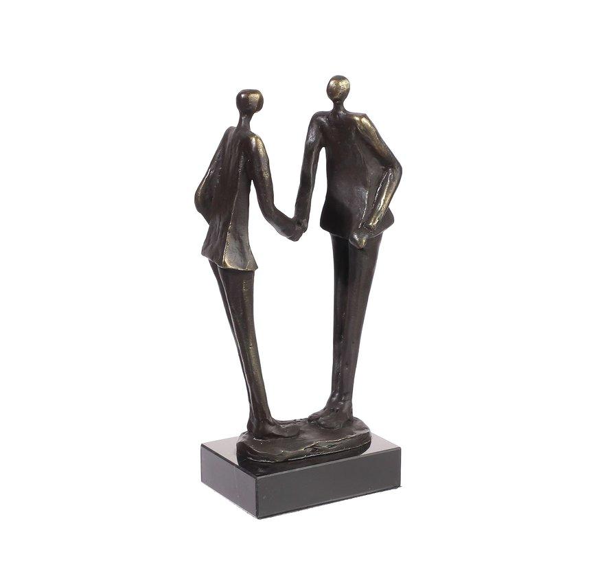 Agreement bronzen beeld
