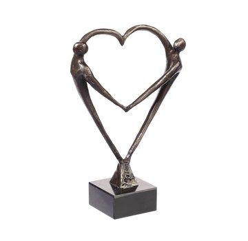 Bronzen beeld Hart voor elkaar