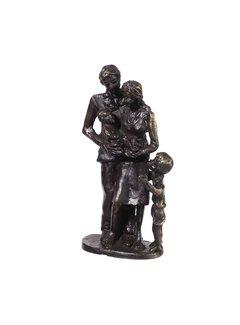 Bronzen beeld Gezin met zoon