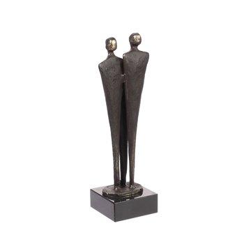 Bronzen beeld Gezin met 1 kind.