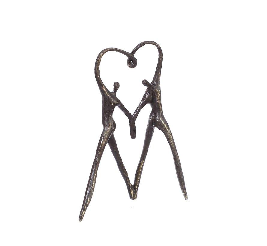 Sculptuur Het hart op de juiste plaats