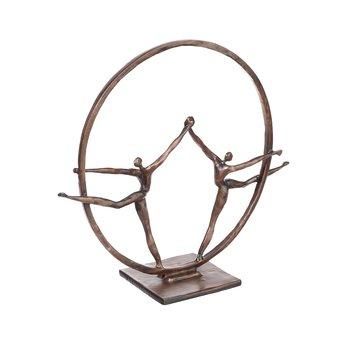 Bronzen beeld De vriendschap