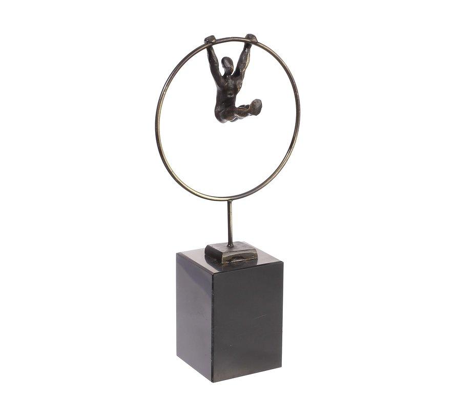 Focus Homme. Sculptuur met Mannelijk  beeldje.