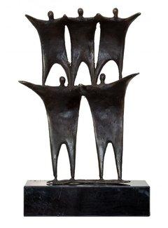 Bronzen beeld Schouder aan schouder