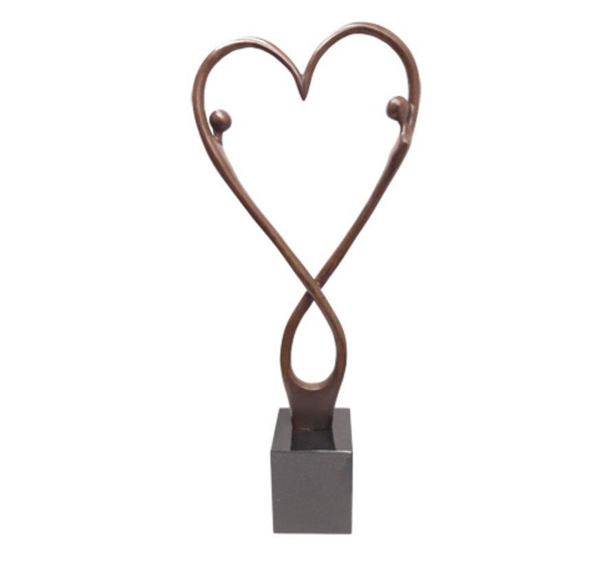 """Bronzen sculptuur """"Love and happiness"""" 100% Brons!"""