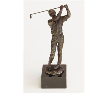 Bronzen Beeld Golfer 25 cm