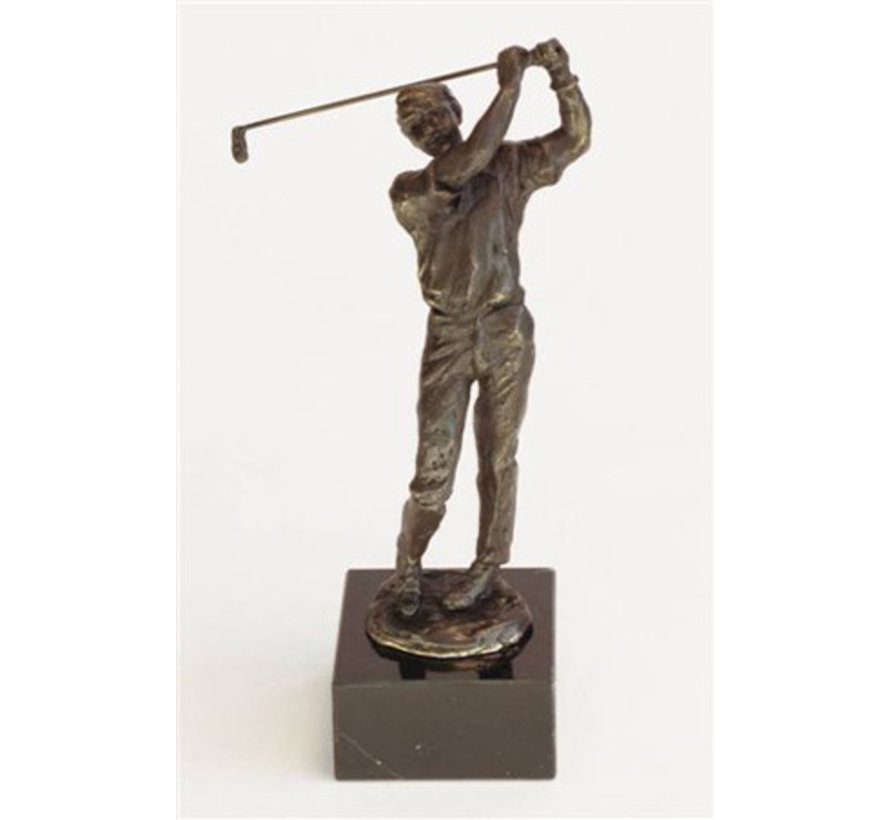 Beeld Golfer 25 cm incl. sokkel