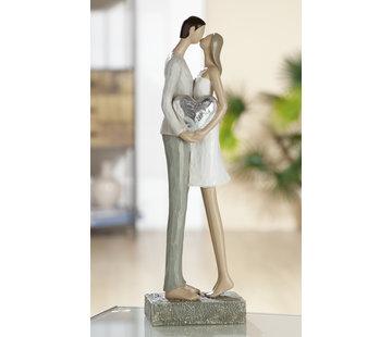 Beeld huwelijk kussend met hart